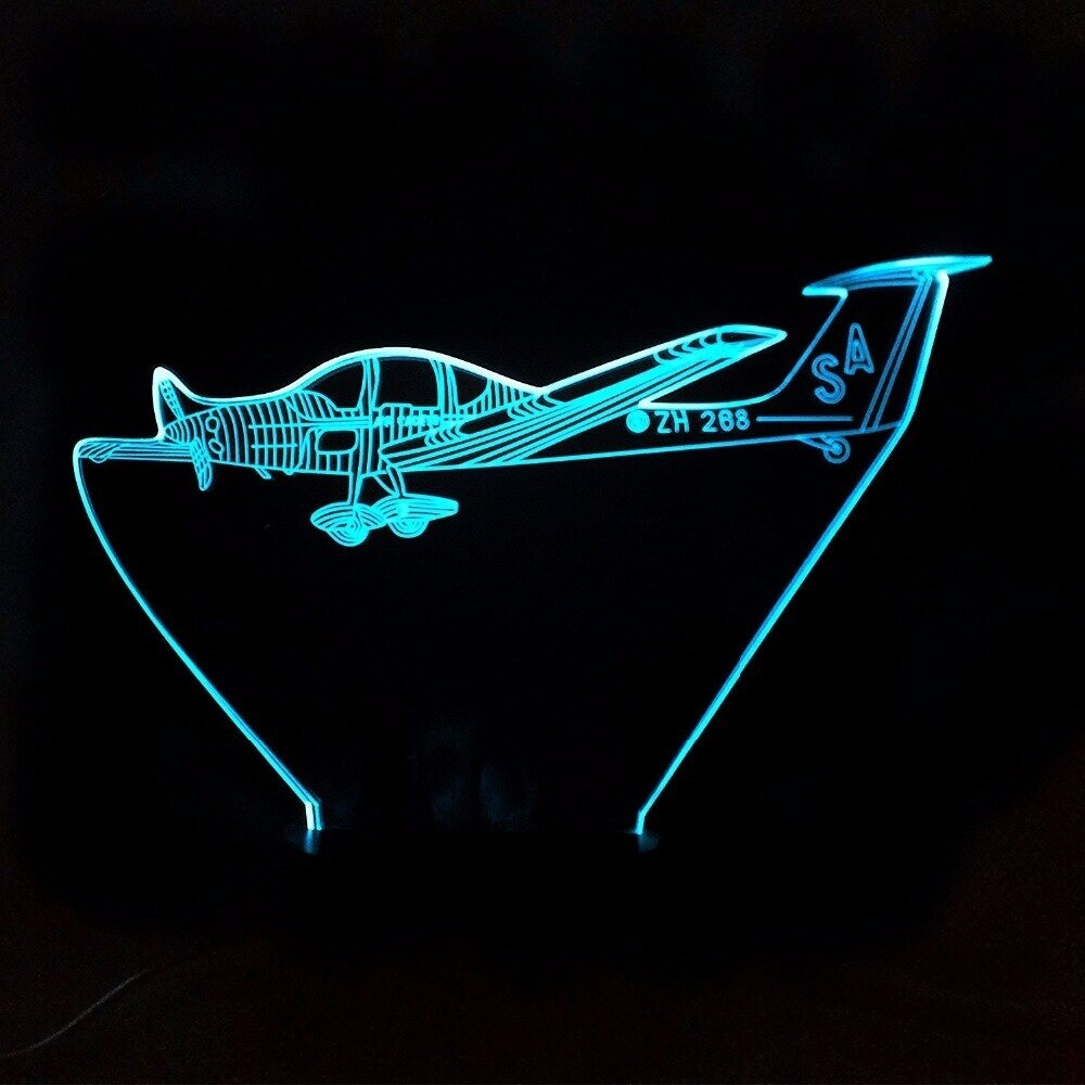 Helicopter Modelling - 3D Night Light Table Lamp