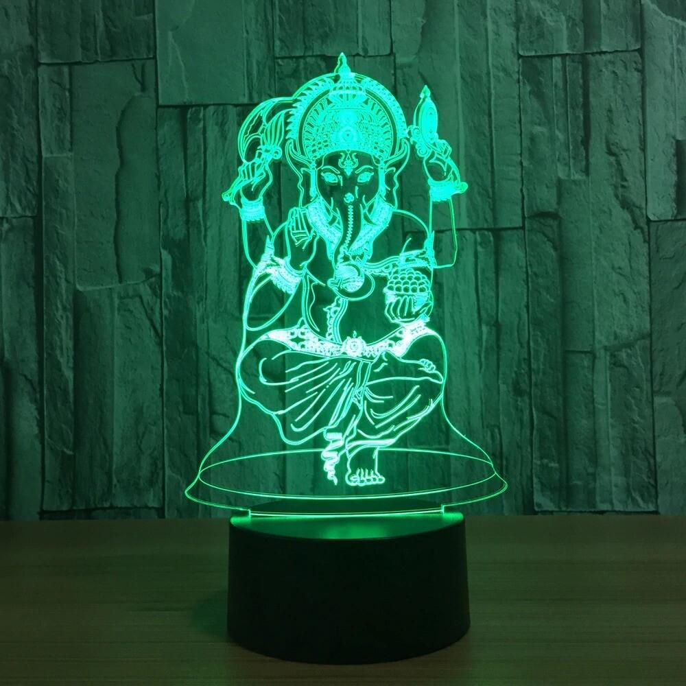 Ganesha - 3D Night Light Table Lamp