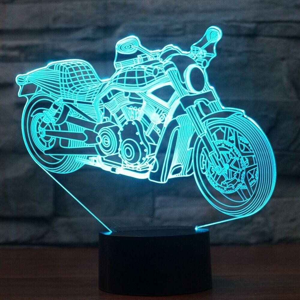 Motorcycle Modelling - 3D Night Light Table Lamp