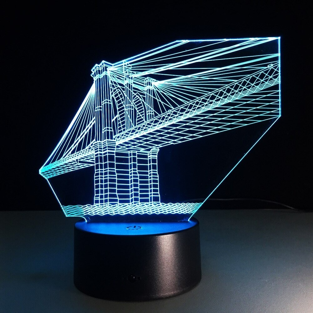 San Francisco Bridge - 3D Night Light Table Lamp