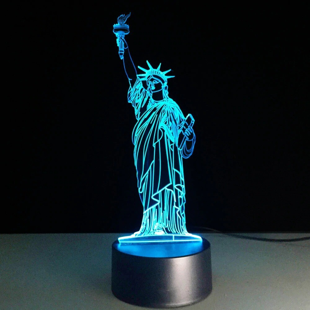Statue Of Liberty - 3D Night Light Table Lamp