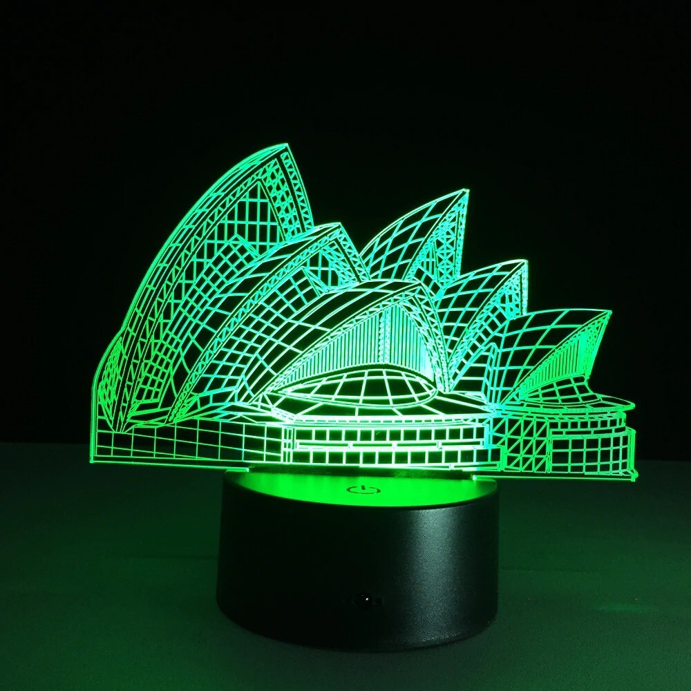 Sydney Opera House - 3D Night Light Table Lamp