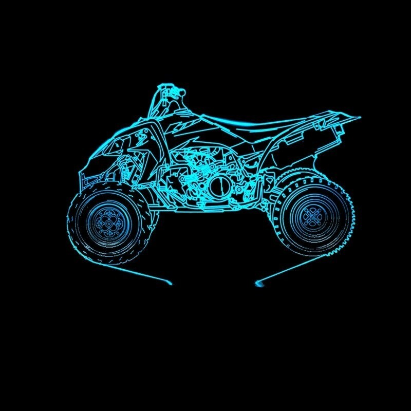 Motorcycle 3 - 3D Night Light Table Lamp