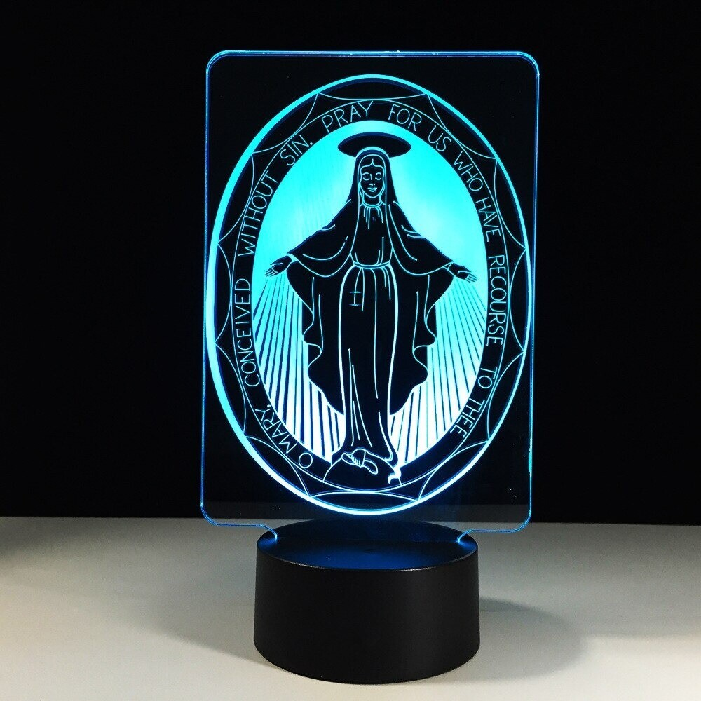 The Virgin Mary - 3D Night Light Table Lamp