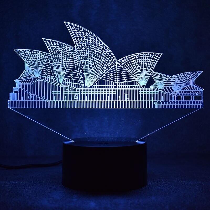 Sydney - 3D Night Light Table Lamp