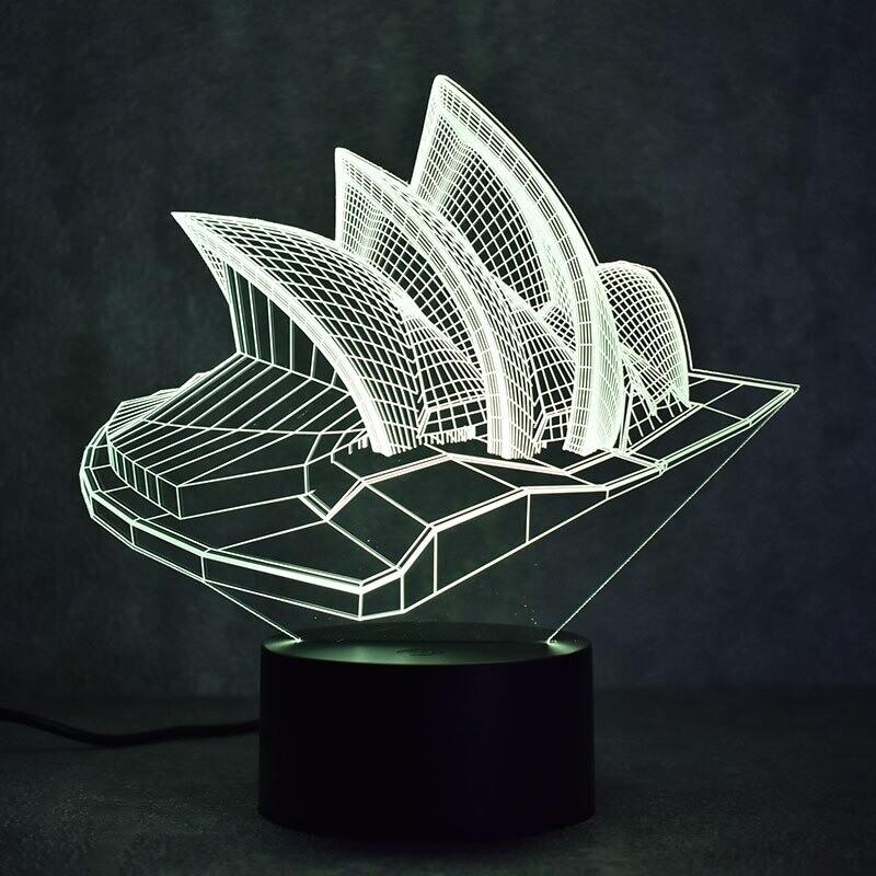 Sydney 1 - 3D Night Light Table Lamp