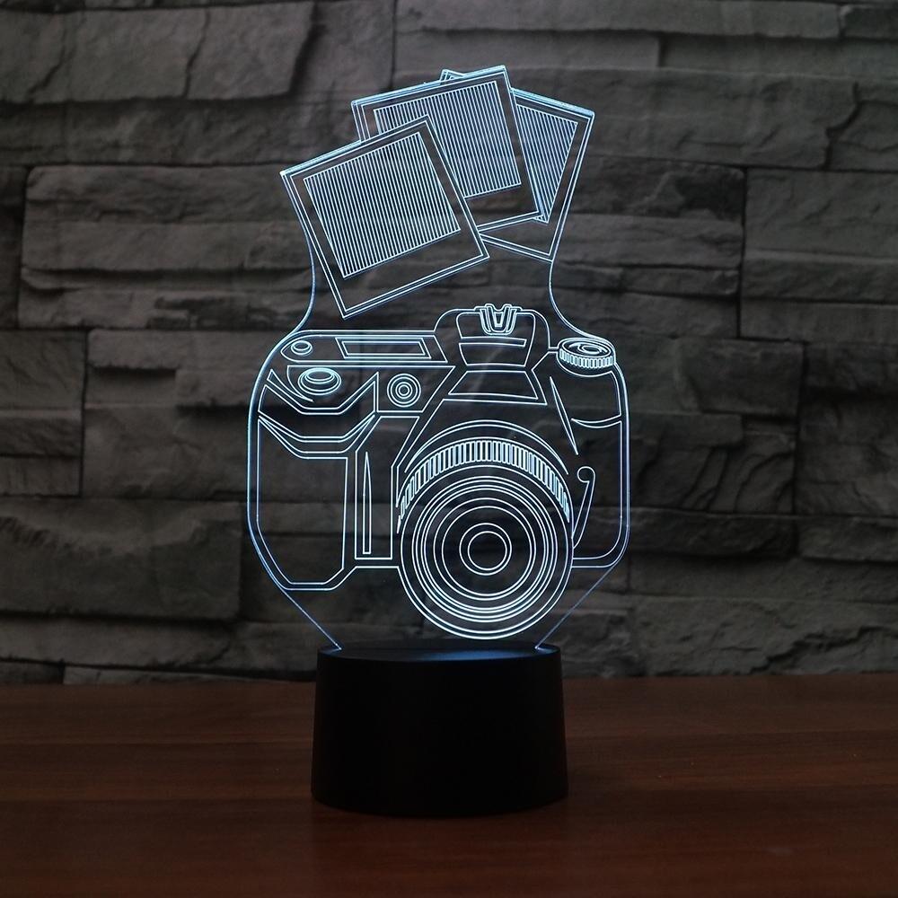 Camera 1 - 3D Night Light Table Lamp