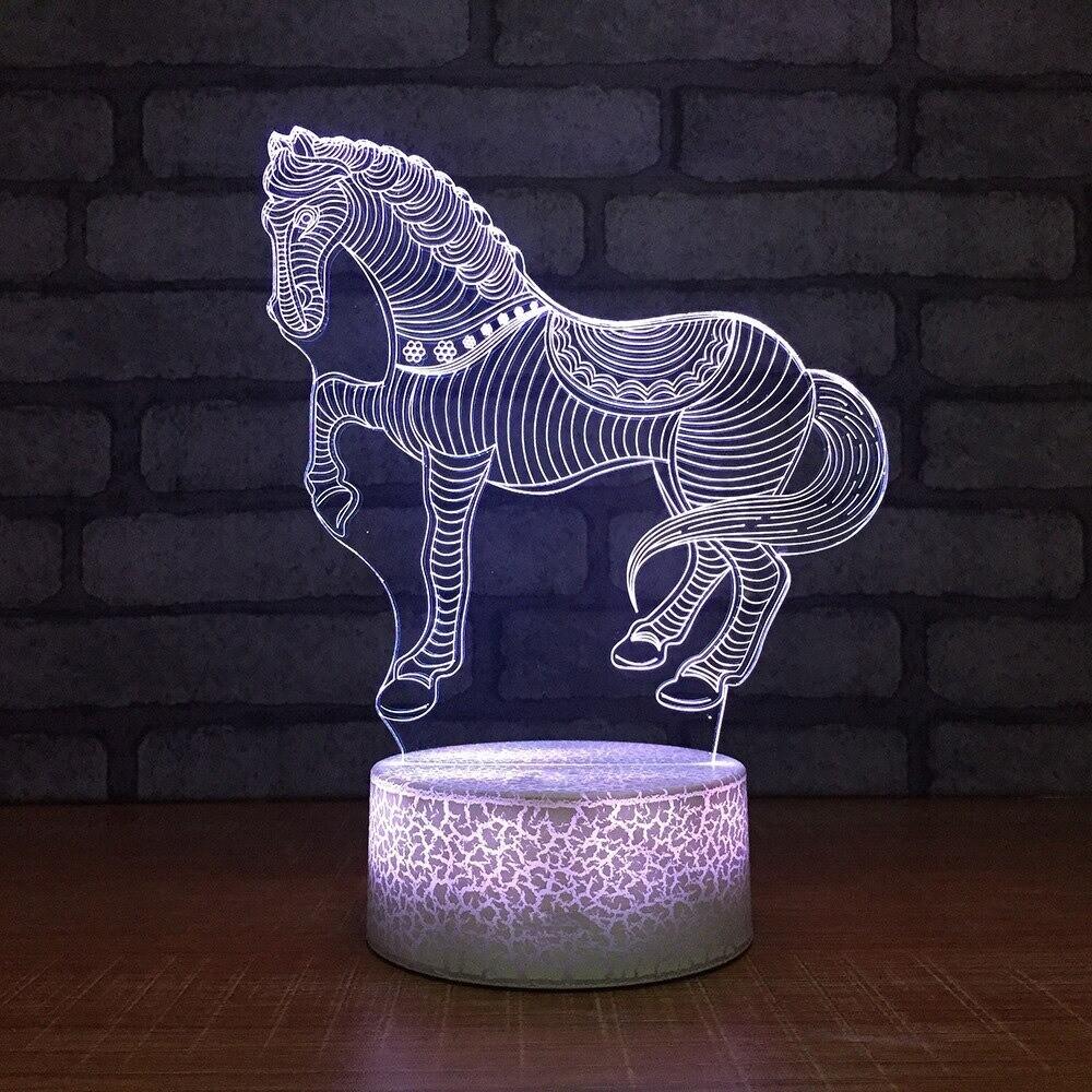 Horse - 3D Night Light Table Lamp