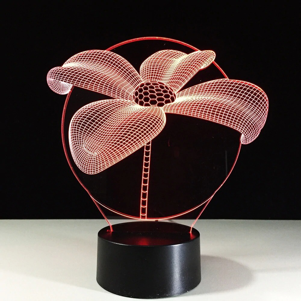Lotus Flower - 3D Night Light Table Lamp