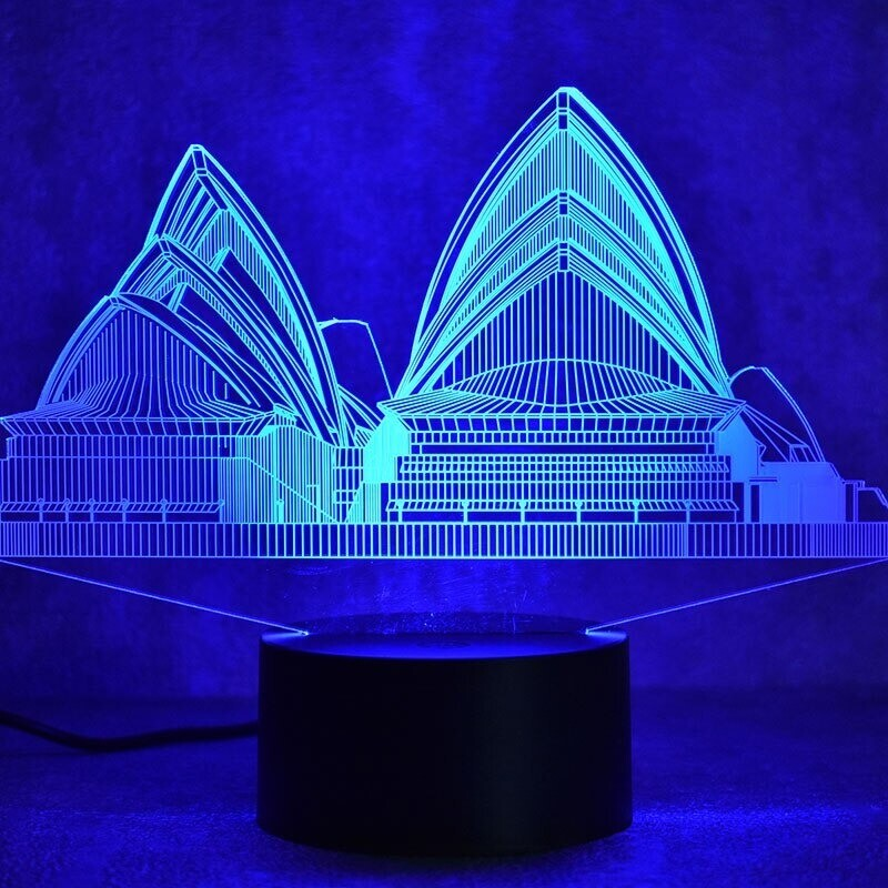 Sydney Colorful - 3D Night Light Table Lamp