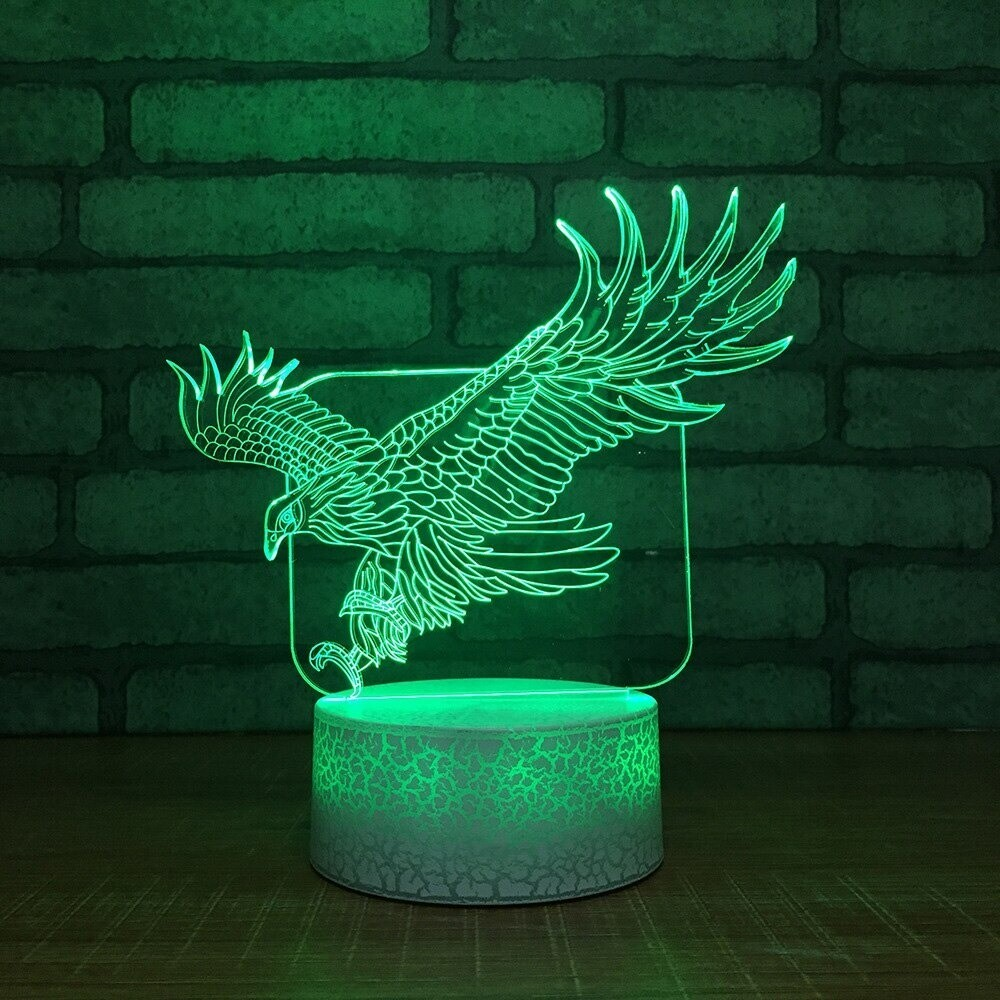 Eagle - 3D Night Light Table Lamp