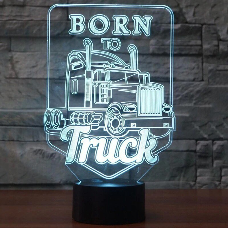 Truck - 3D Night Light Table Lamp