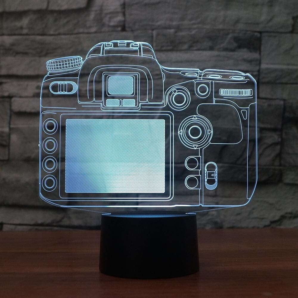 Camera - 3D Night Light Table Lamp