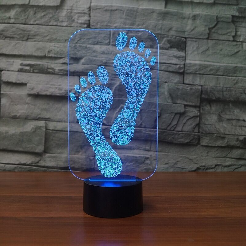 Footprint - 3D Night Light Table Lamp