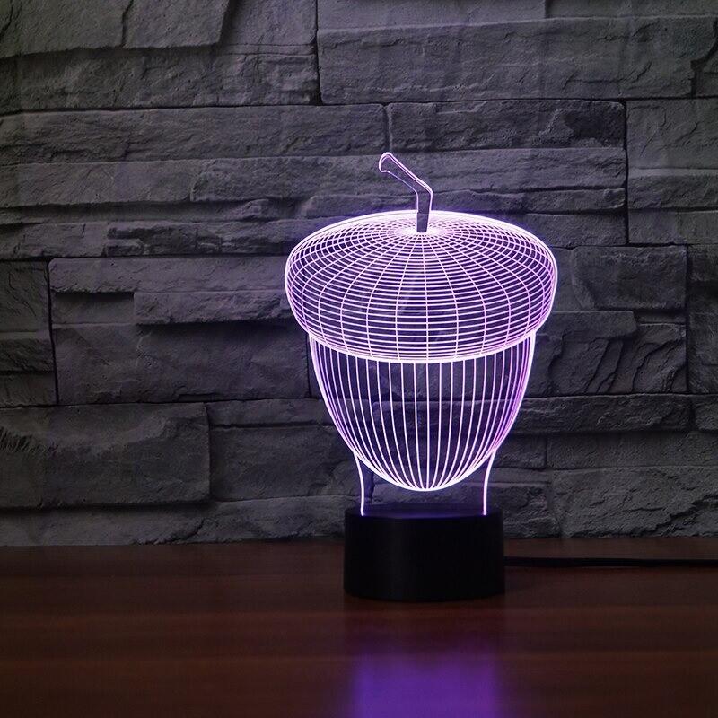 Pulp Oak - 3D Night Light Table Lamp