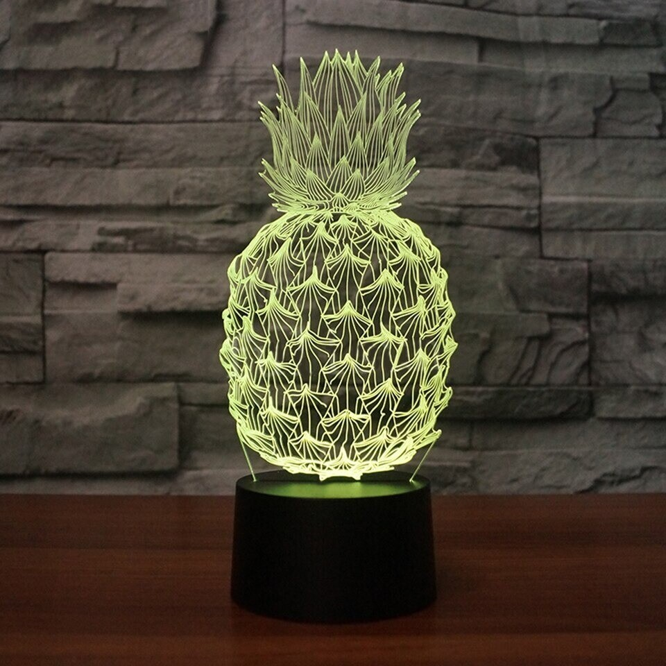 Pineapple - 3D Night Light Table Lamp