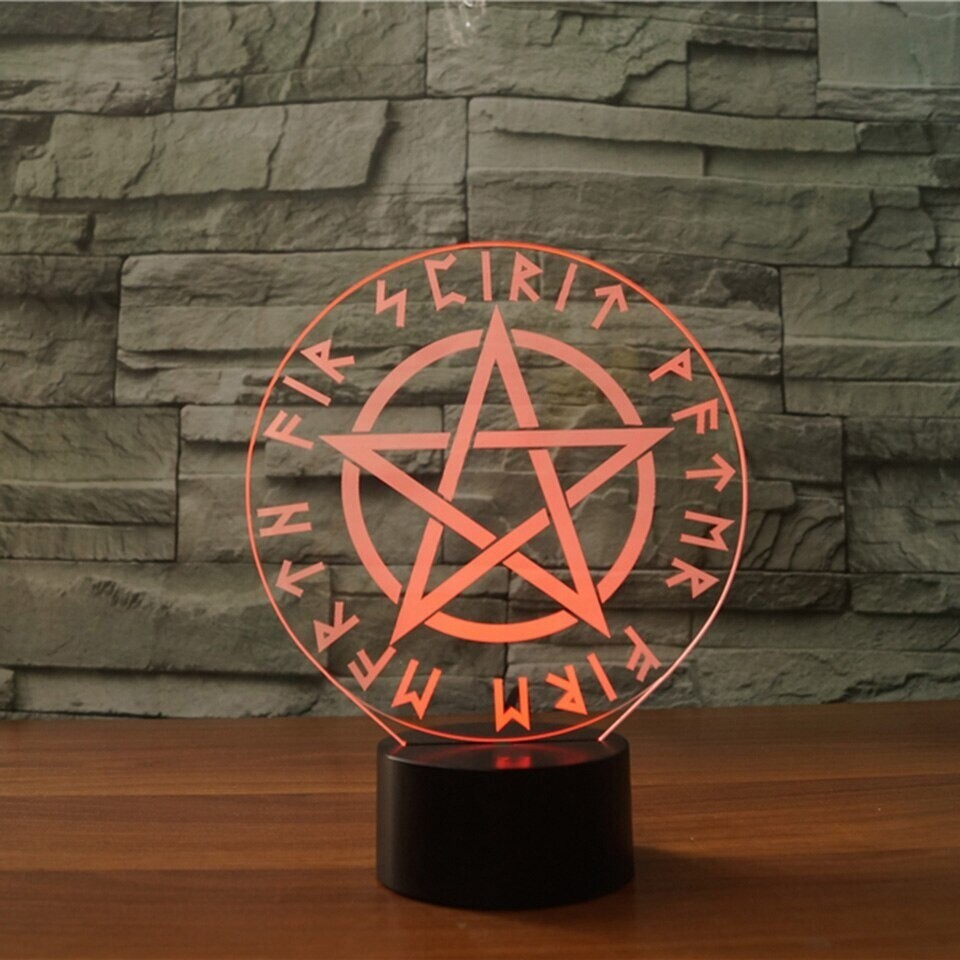 Star Of David  - 3D Night Light Table Lamp