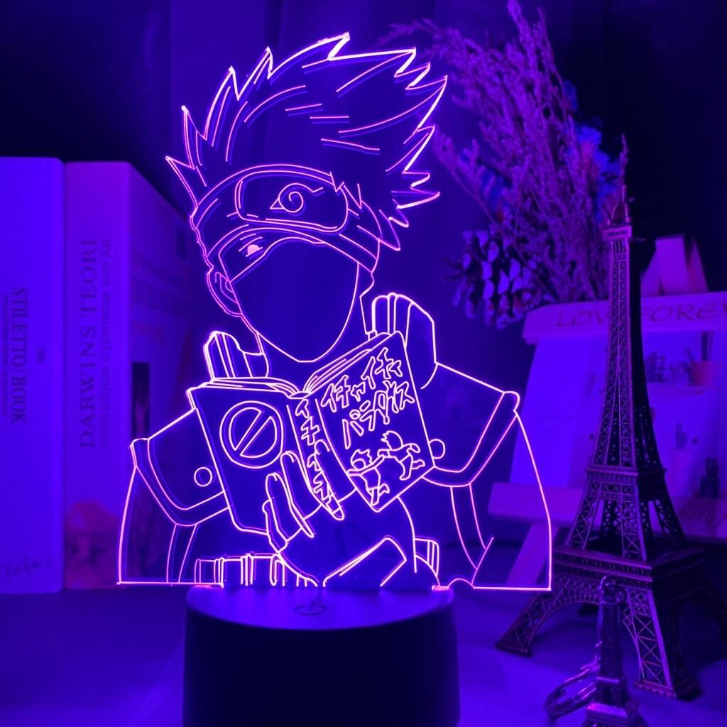 Japanese Anime Naruto Kakashi Hatake Icha Icha Paradaisu - 3D Night Light Table Lamp