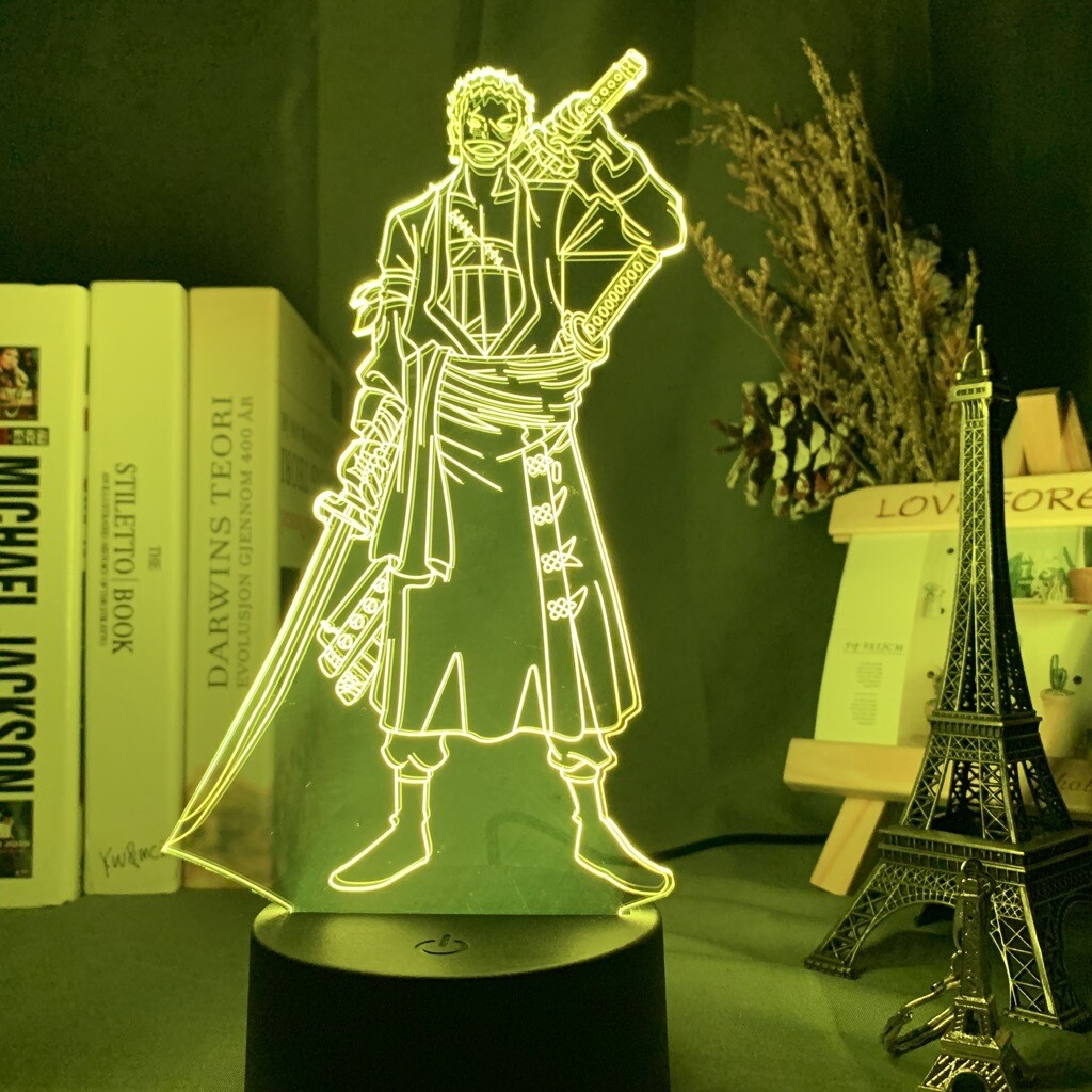 Roronoa Zoro - 3D Night Light Table Lamp