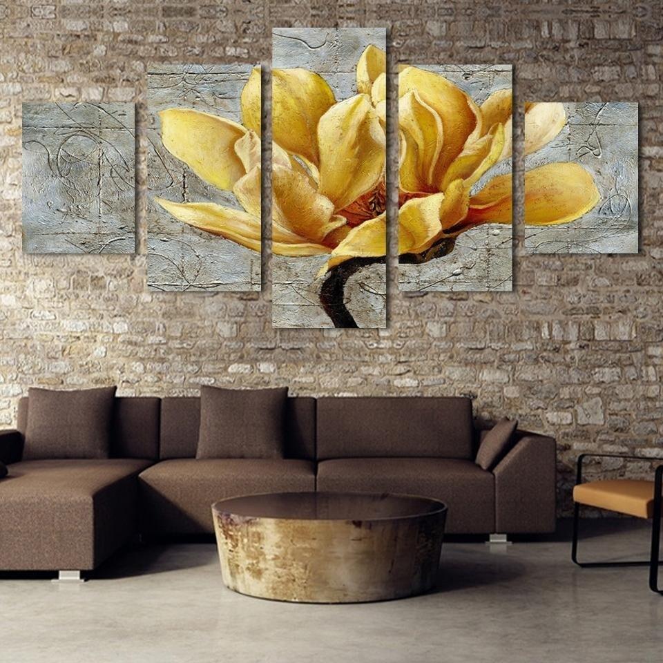 Flower Of Life - 5 Panel Canvas Print Wall Art Set