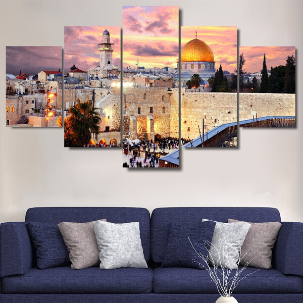 Jerusalem - 5 Panel Canvas Print Wall Art Set