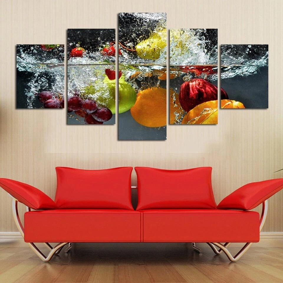 Fruit - 5 Panel Canvas Print Wall Art Set