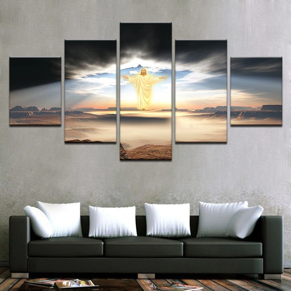Jesus Is Coming - 5 Panel Canvas Print Wall Art Set