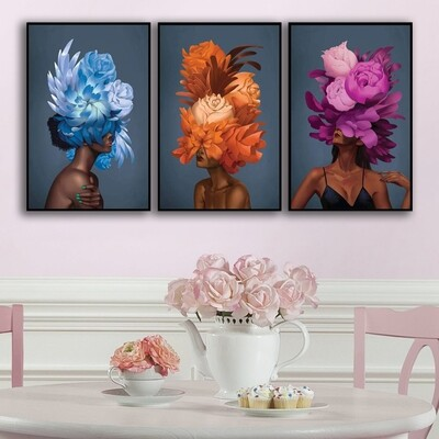 Empowered Woman Canvas Wall Art