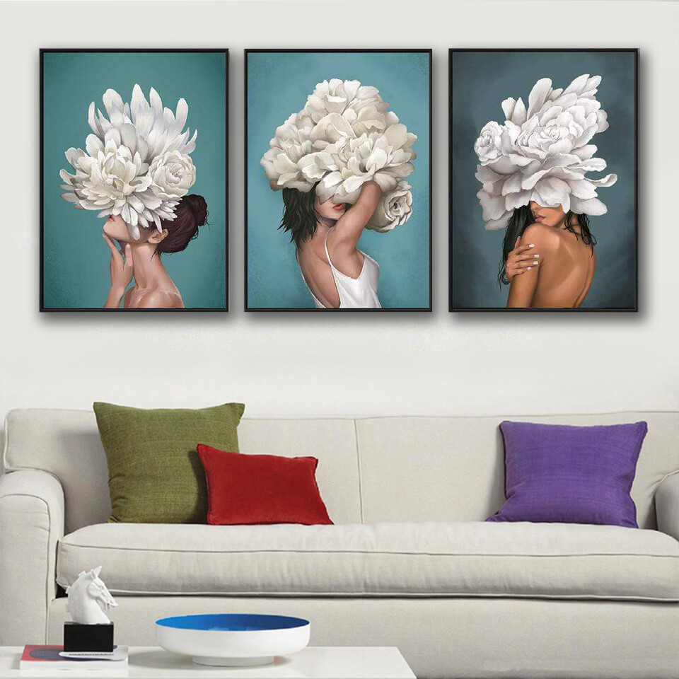 The Hidden Woman Canvas Wall Art