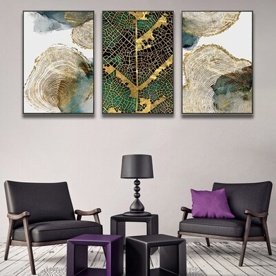 Abstract Leaf Trunk Canvas Wall Art