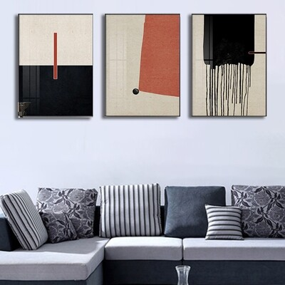 Colorful Geometric Abstract Canvas Wall Art