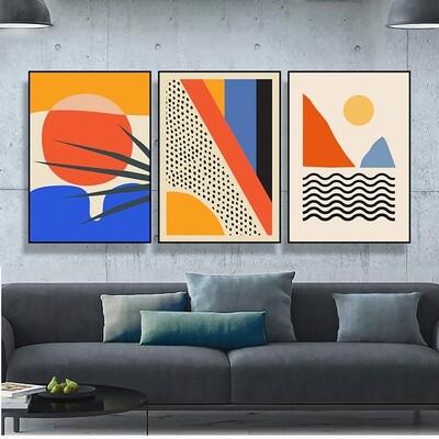 Geometric Abstract Scene Scandinavia Canvas Wall Art