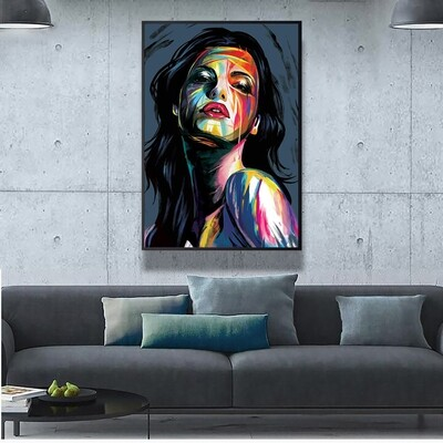 Brushwork Woman Canvas  Wall Art