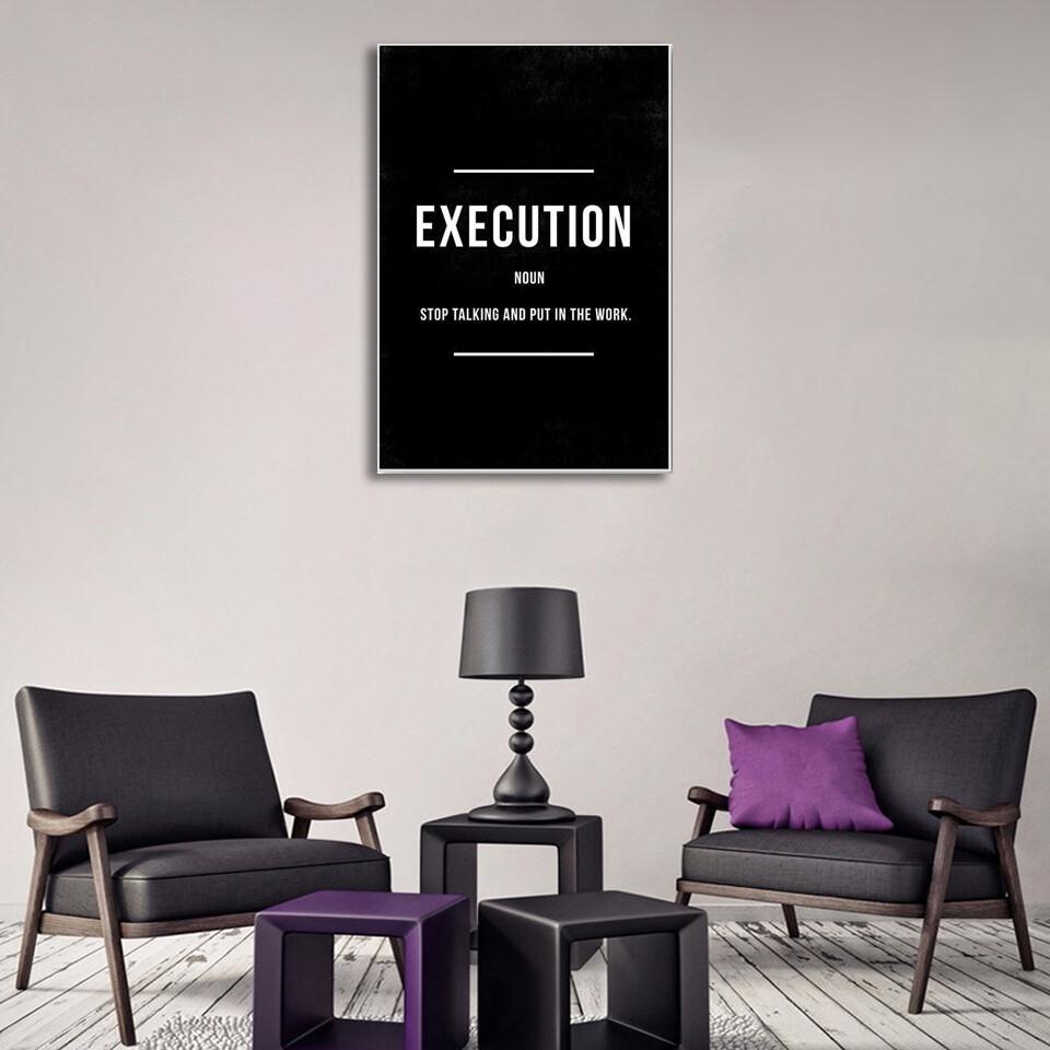 Execution Canvas Wall Art