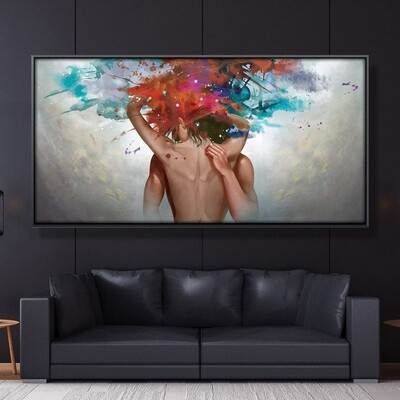 Sensual Caress Canvas Wall Art