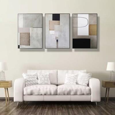 Modern Geometric Minimalist Canvas Wall Art