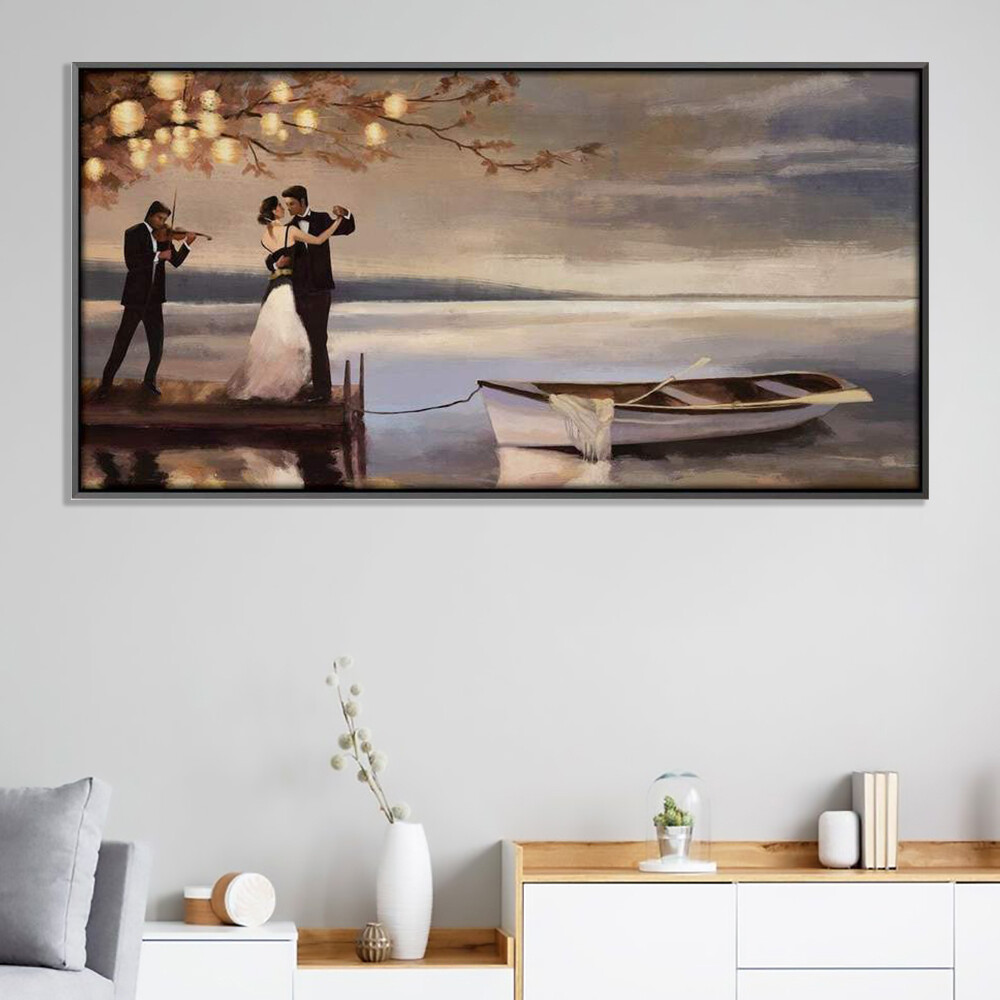 Romancing Dock Canvas Wall Art