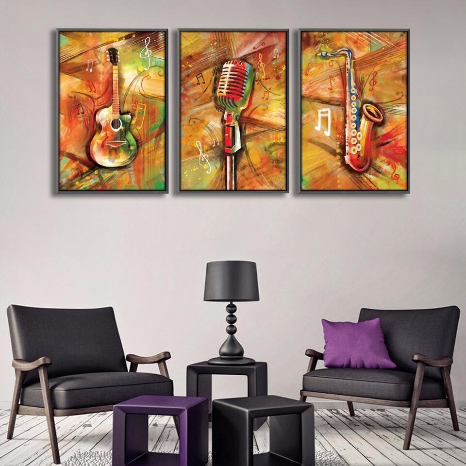 Musical Vibes Canvas Wall Art