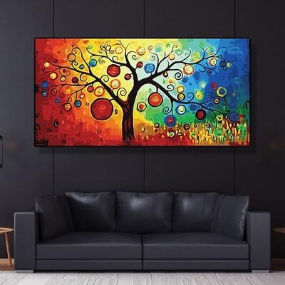 Tree of Life Money Tree Canvas Wall Art