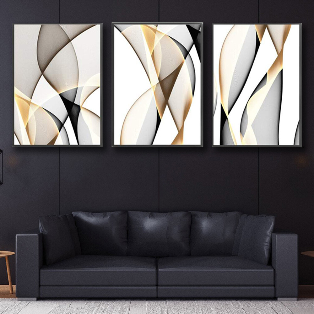 Contrasting Waves Canvas Wall Art
