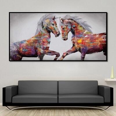 Graffiti Stallion Canvas - Single Panel Canvas Wall Art