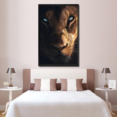Fierce Lioness Canvas Wall Art