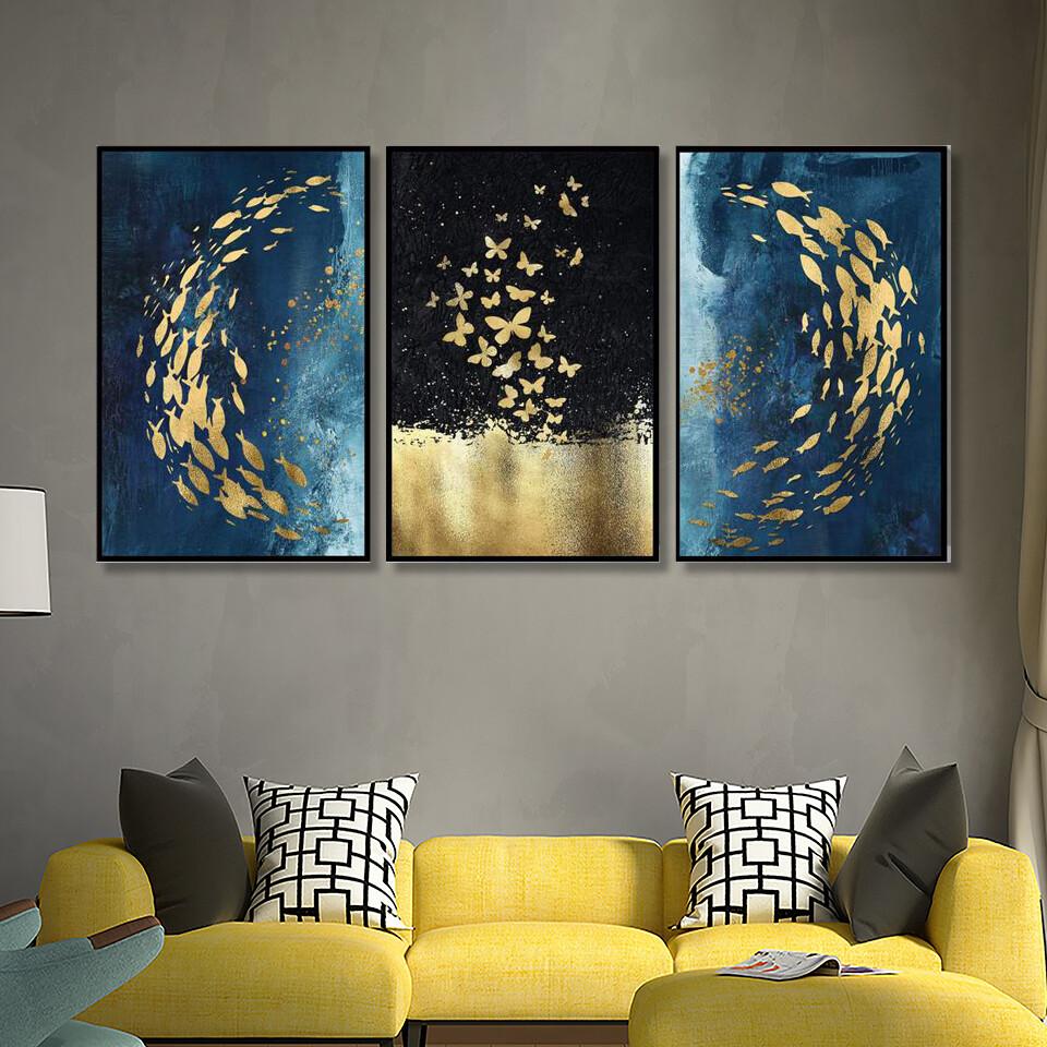 Golden Fish Canvas Wall Art