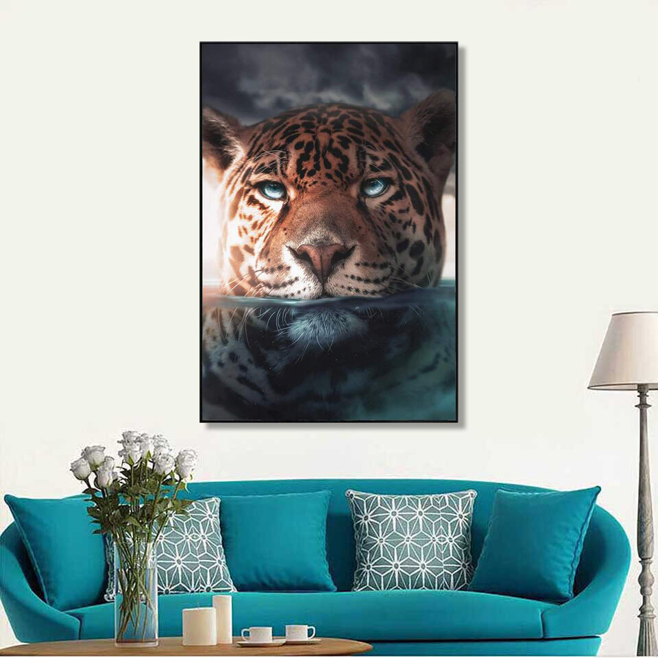 Jaguar Lake Canvas Canvas Wall Art