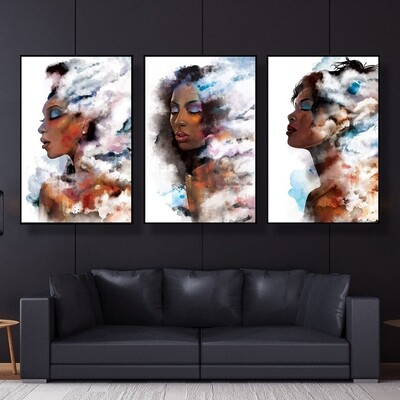 Clouded Woman Canvas Wall Art