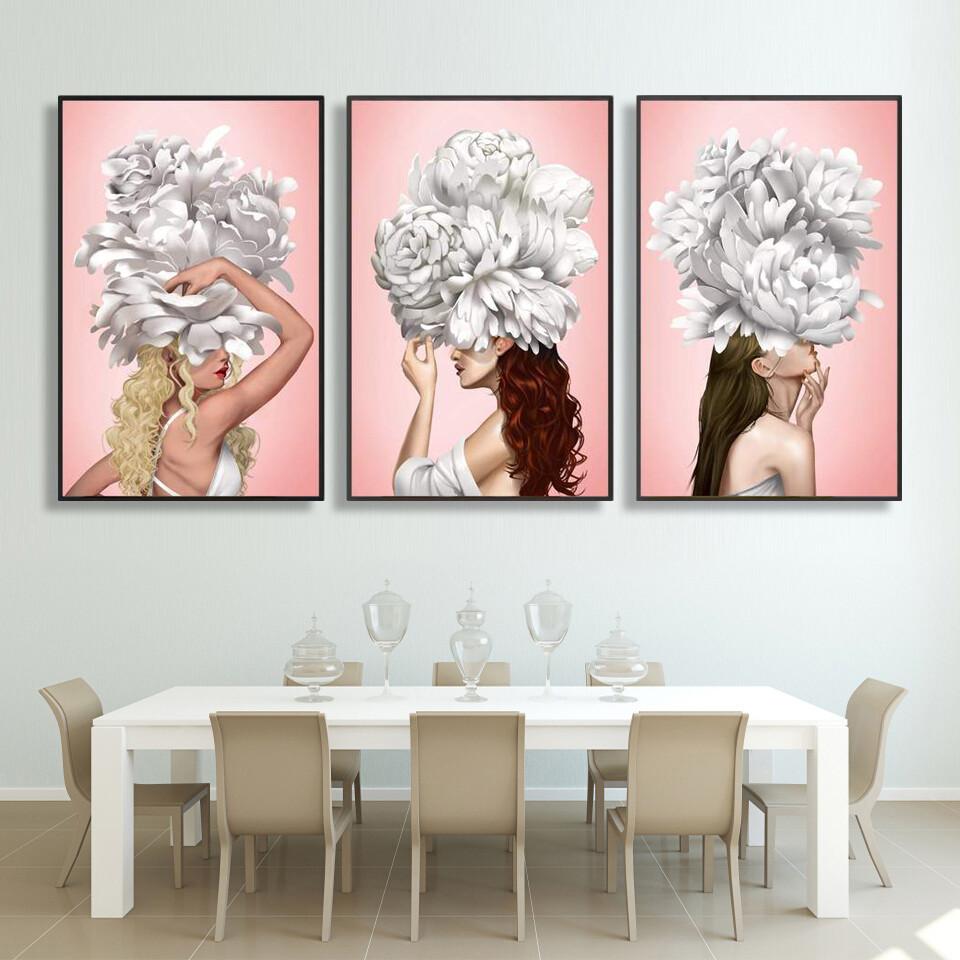 Graceful Woman Canvas Wall Art