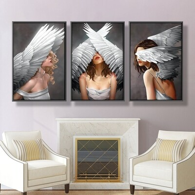 Divine Angels Canvas Wall Art