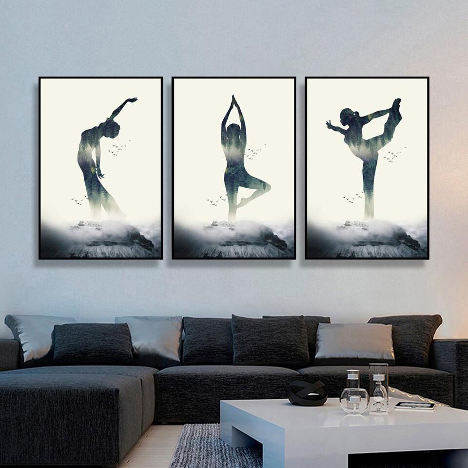 Yoga Abstract Canvas Wall Art