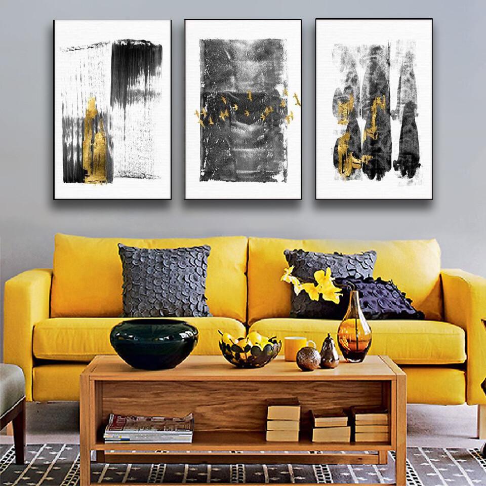 Gold Smear Canvas Wall Art
