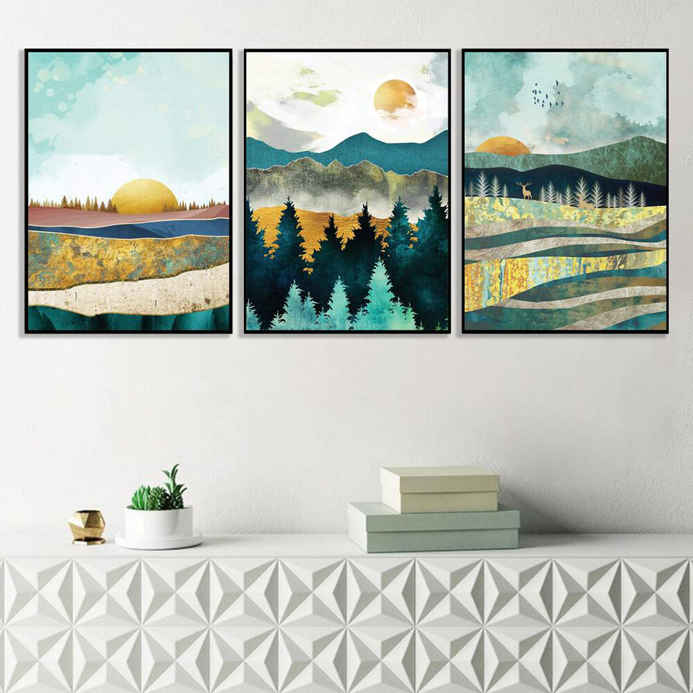Abstract Sunsets Canvas Wall Art